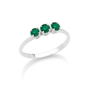 Anello Eternity in oro con smeraldi