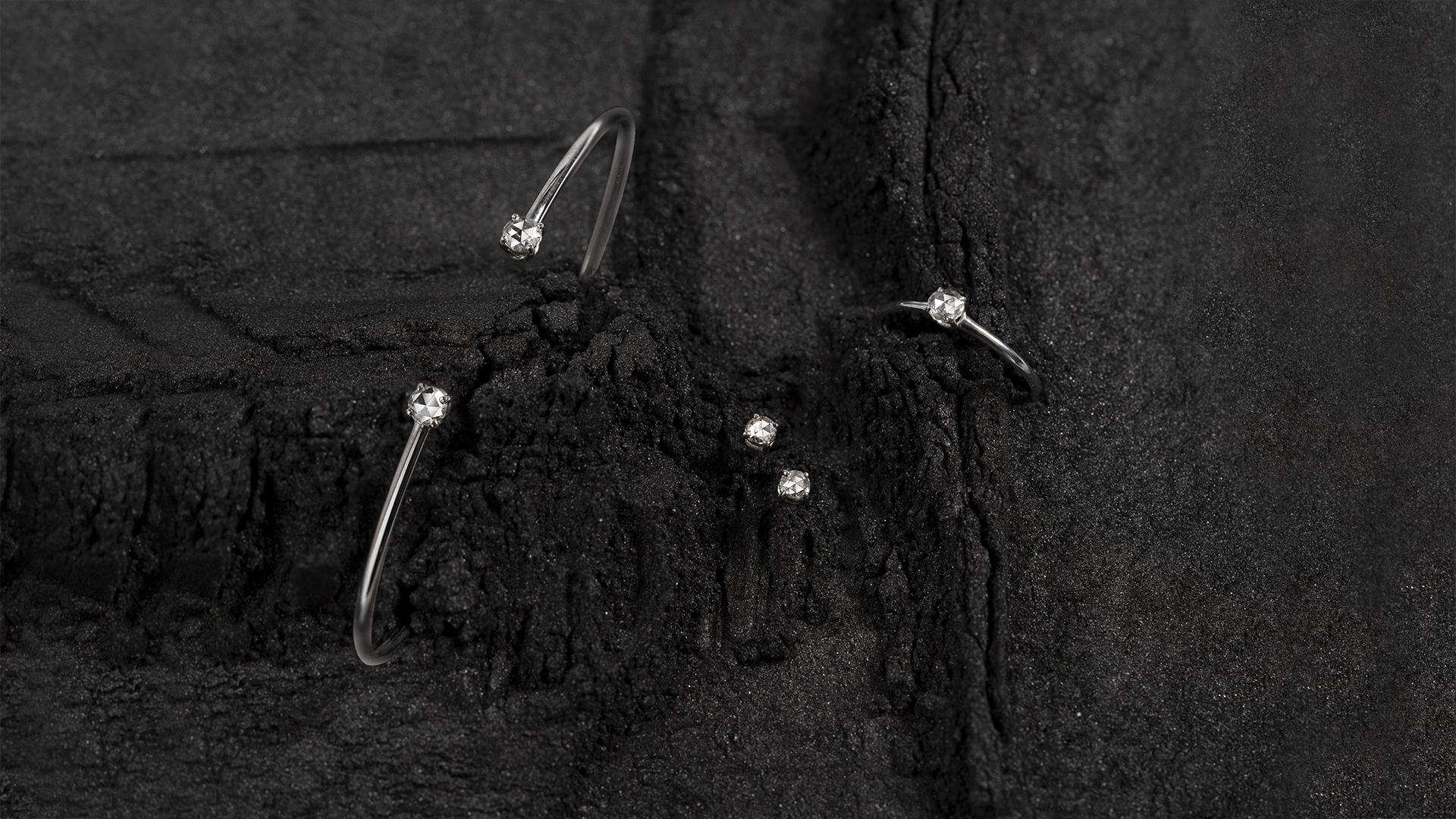 Eternity: oro bianco e diamanti