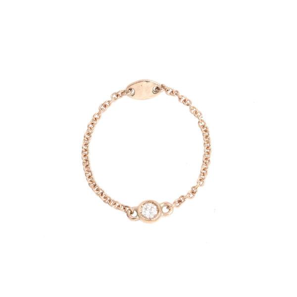 Anello Diamantina in oro con diamante bianco