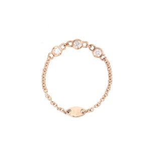 Anello Diamantina in oro con diamanti